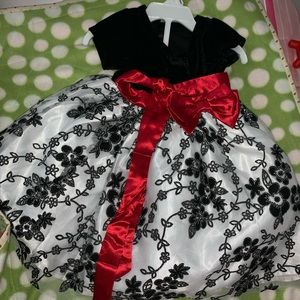 Black dress with bow